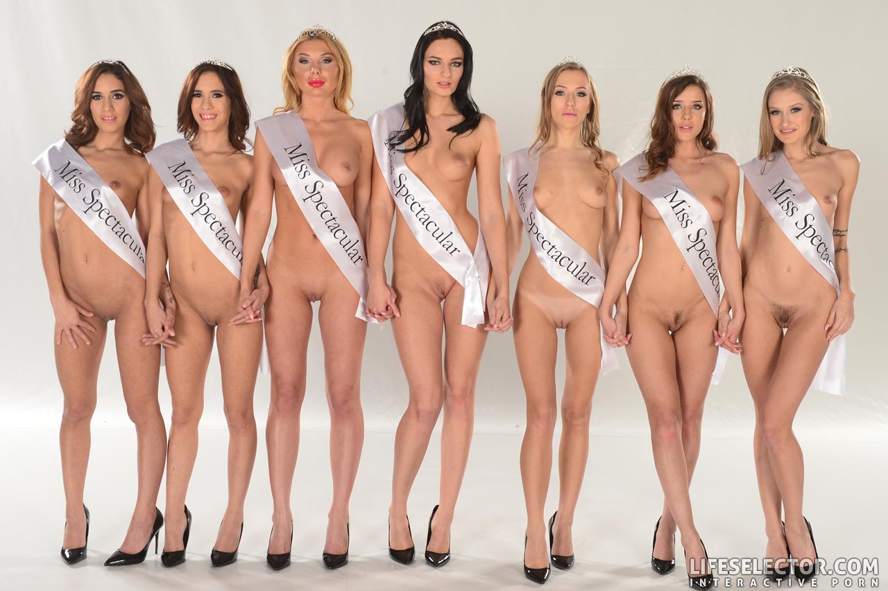 Miss beauty pageant winner licks breast